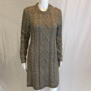 Polo Ralph Lauren NWT Marled Sweater Dress M